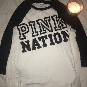 PINK NATION VS BASEBALL TEE